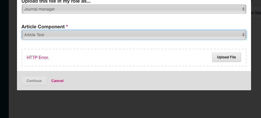 Add galley http error - Questions - PKP Community Forum