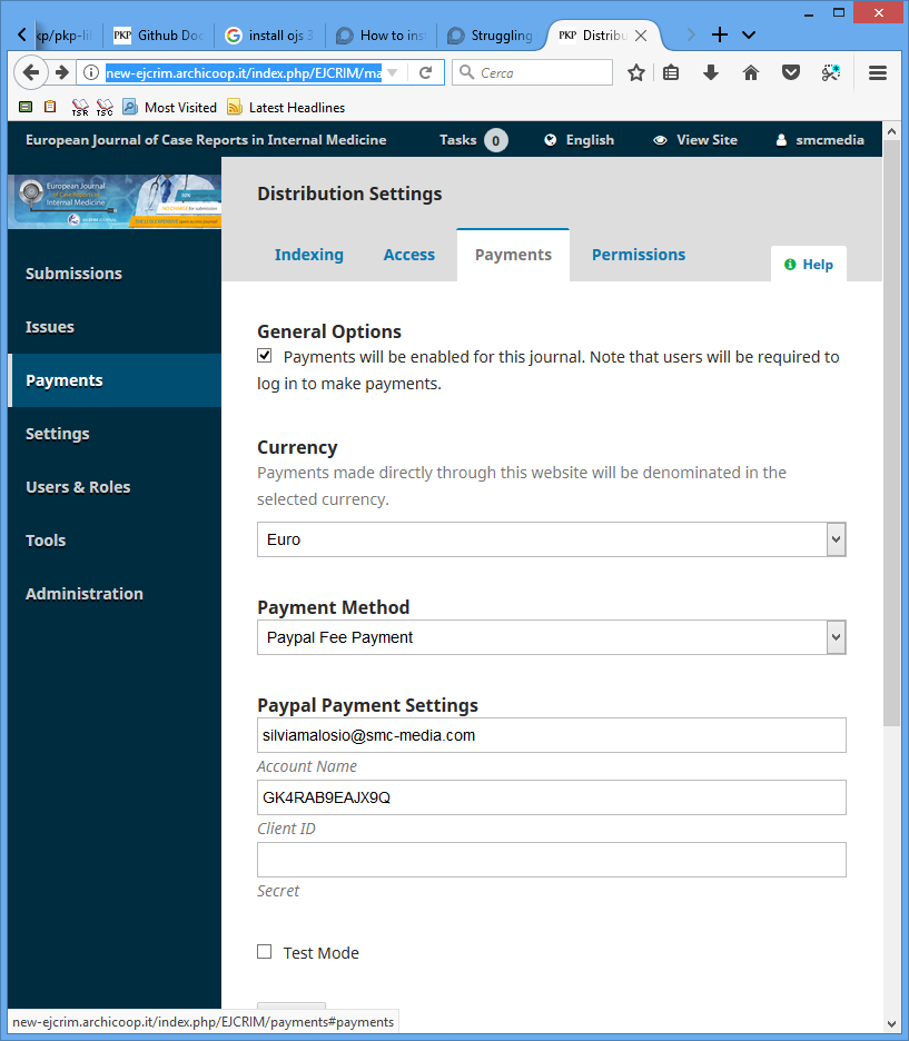 Error with Payment and author fee configuriation after upgrade to