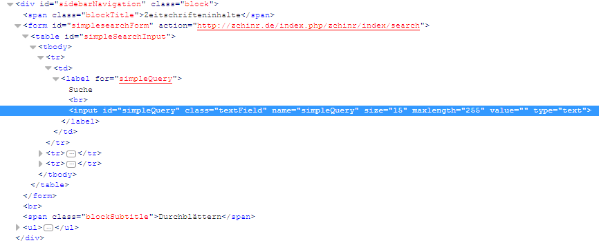 SOLVED: Navigation block plugin (search) not working correctly after