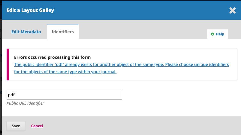 Public article url identifier (pdf) for all published articles - PKP