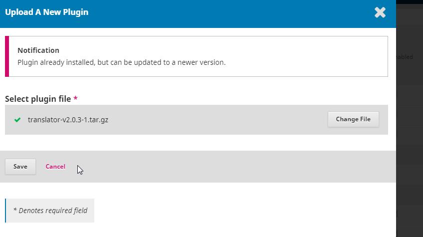 Translator plugin installation in OJS 3 1 2 - Translations