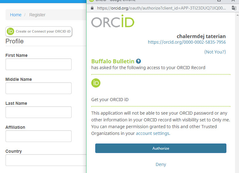 Orcid id + http error 500 - Questions - PKP Community Forum