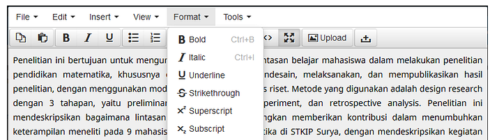 Tinymce editor different toolbars OJS 3 0 - Questions - PKP