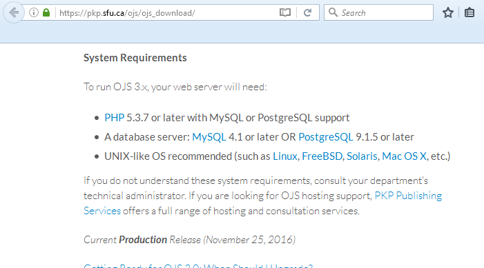 OJS support windows server? - PKP Community Forum