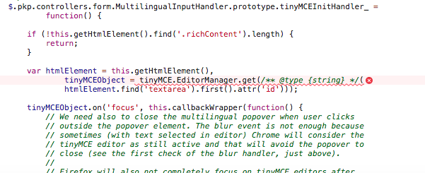 Uncaught ReferenceError: tinyMCE is not defined - Questions - PKP