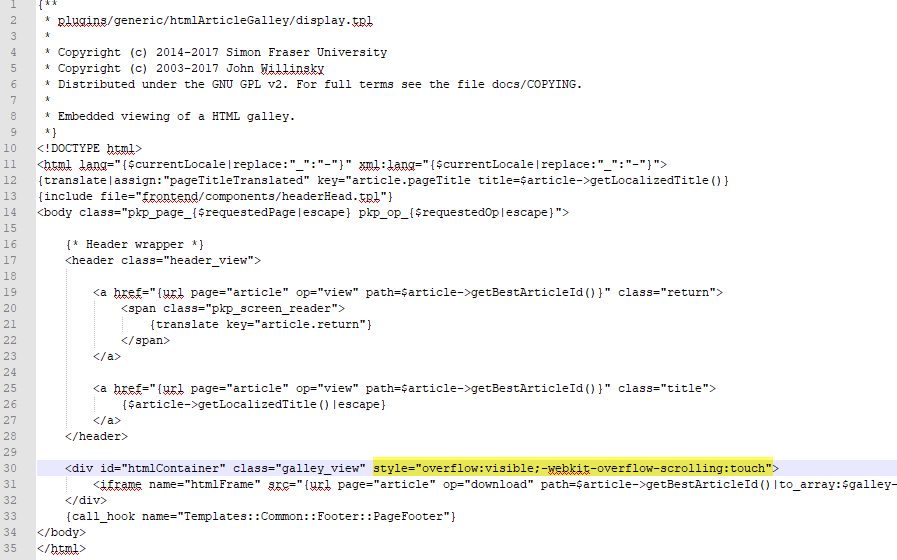 OJS 3 1 HTML galley not working in iOS - Questions - PKP Community Forum