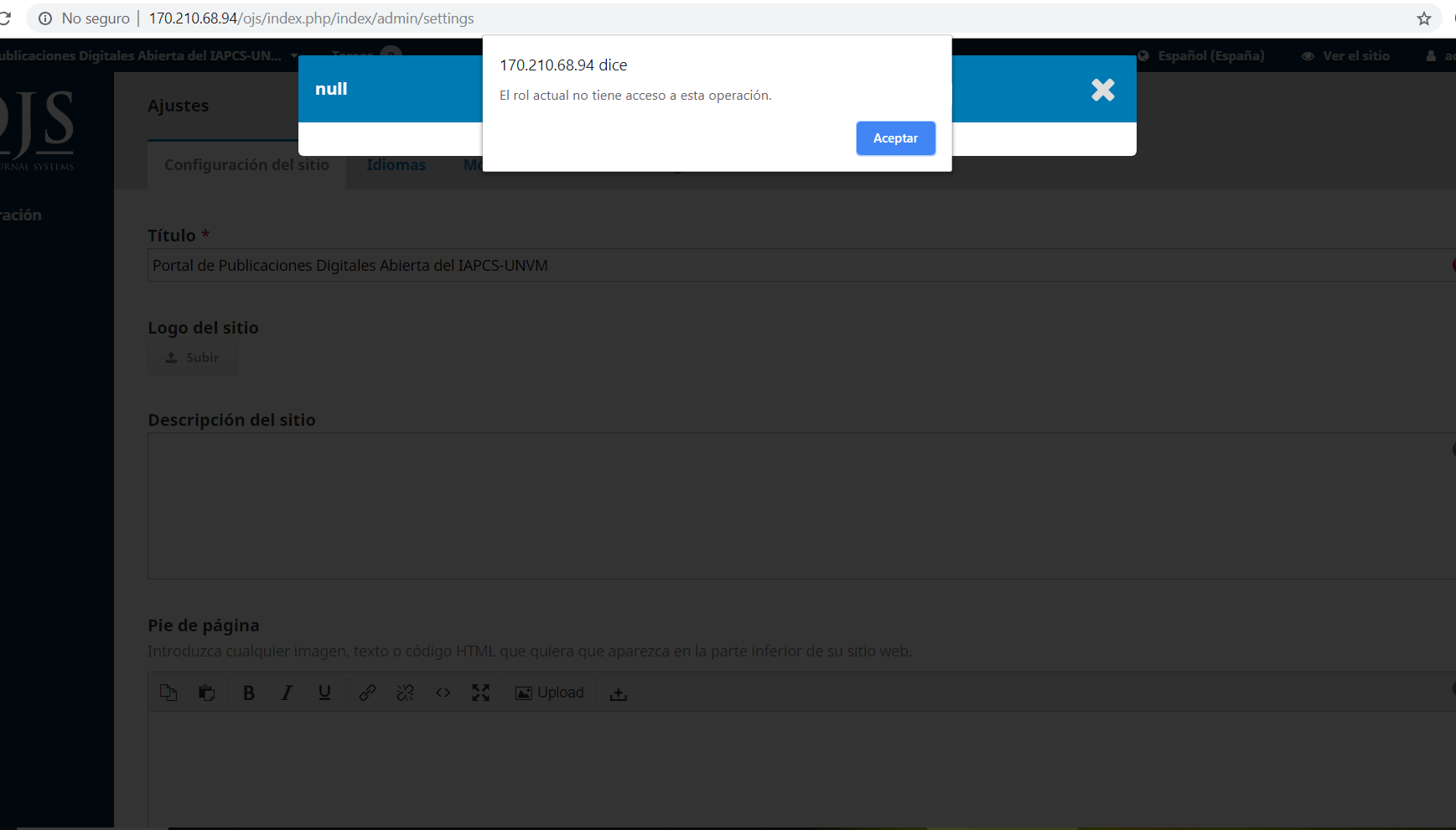 Problem when uploading site logo - Questions - PKP Community Forum